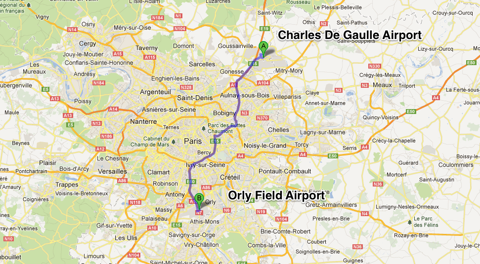Paris to Orly